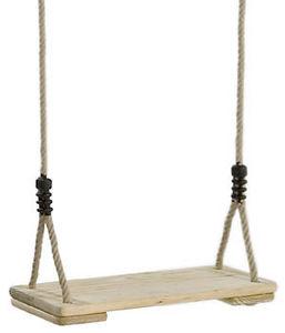 Kbt - balançoire en pin traité avec cordes en chanvre sy - Columpio