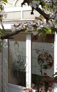 J'HABILLE VOS FENETRES - bouddha - Lámina Adhesiva Intimidad