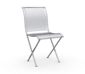 Calligaris - chaise pliante design air folding grise et acier c - Silla Plegable