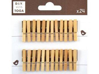 TOGA - 24 mini pinces � linge bois - Pinza De Ropa