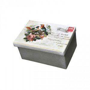 Demeure et Jardin - boite rectangulaire carte postale - Caja
