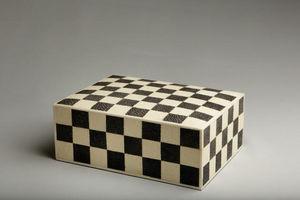 De Nacre Et D'orient - damier - Caja Decorativa