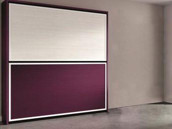 WHITE LABEL - armoire lit superpos�e escamotable transversale. 2 - Armario Cama