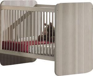 WHITE LABEL - lit pour bébé évolutif coloris frêne gris design - Cuna