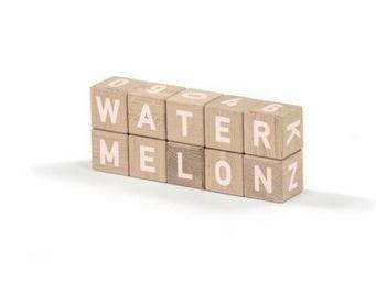 MAISON DEUX - alphabetic woodies white -