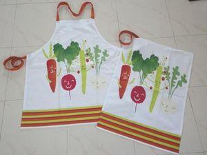 ITI  - Indian Textile Innovation - veggies - Delantal De Cocina