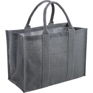 Aubry-Gaspard - sac en jute plastifiée gris - Cesta De Pic Nic