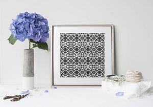 la Magie dans l'Image - print art réseau floral blanc - Póster