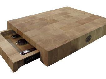 CHABRET - billot barbecue en bois de charme - Tabla De Corte