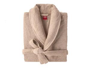 BLANC CERISE - peignoir col kimono - coton peigné 450 g/m² blanc - Albornoz