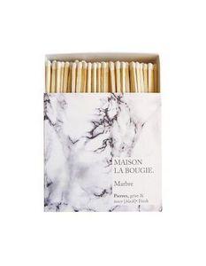 MAISON LA BOUGIE - marbre - Caja De Cerillas