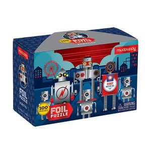 BERTOY - 100 pc foil puzzle robotics - Rompecabezas Niño