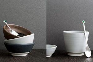 Blue Leaves - servir le thé pierre - Cucharilla De Café