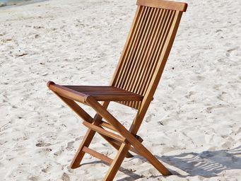 BOIS DESSUS BOIS DESSOUS - chaise de jardin en bois de teck huilé bali - Silla De Jardín Plegable