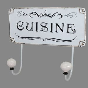 CHEMIN DE CAMPAGNE - patère crochet porte serviette de cuisine mural - Colgador