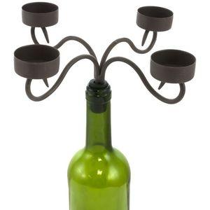 CHEMIN DE CAMPAGNE - bougeoir chandelier à bouteilles 4 bougies 22.50x2 - Candelabro