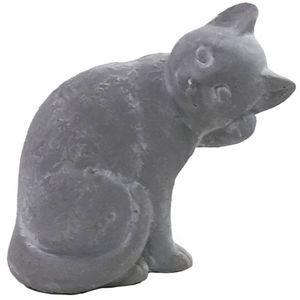 CHEMIN DE CAMPAGNE - statue sculpture chat en ciment 20 cm - Ornamento De Jardín