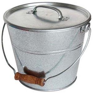 Guillouard - seau avec couvercle pour cendres granulés ou compo - Cubo Para Ceniza
