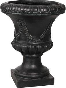 AUBRY GASPARD - vase antique en fibre de verre noir taille 2 - Jarrón Medicis