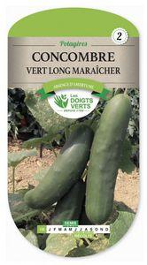 LES DOIGTS VERTS - semence concombre vert long maraicher - Semilla