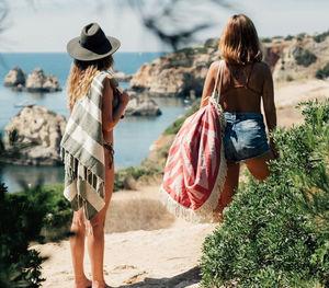 FUTAH BEACH TOWELS - benagil rose & rouge - Toalla De Playa