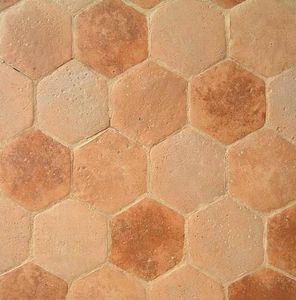 Ceramiques du Beaujolais - tomettes hexagones antiques - Suelo De Terracota Antigua