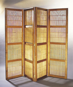 Matahati - portes paravent teck & bambou - Biombo