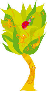 DECOLOOPIO - arbre a singe - Adhesivo Decorativo Para Niño