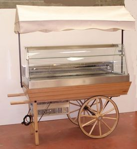 Servizial - charrette avec vitrine réfrigérée - Mostrador De Frío