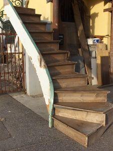 Antiques Forain -  - Escalera Con Tramo Curvo