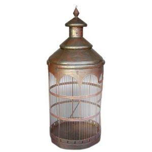 Dos Gallos - antique bird cage - Jaula De Pájaros