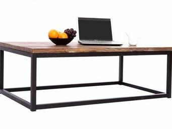 Miliboo - table basse industrielle factory - Mesa De Centro Rectangular