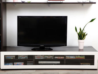 Miliboo - symbiosis meuble tv 1m89 chocolat - Mueble Tv Hi Fi
