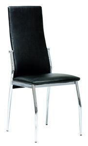 COMFORIUM - chaise de salle à manger coloris noir et métal - Silla