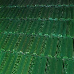 Tejas Borja - esmaltado verde - Teja En Relieve