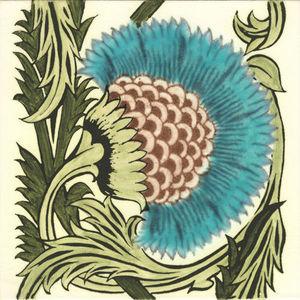 Kenneth Clark Ceramics - bbb 1 turquoise - Baldosa De Cerámica