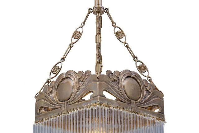 PATINAS - Candelero con cristales colgantes-PATINAS-Venice pendant