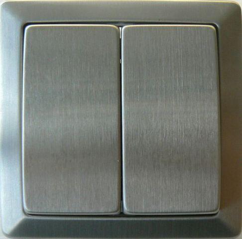 TOOSHOPPING - Interruptor-TOOSHOPPING-Interrupteur double Va et Vient Inox