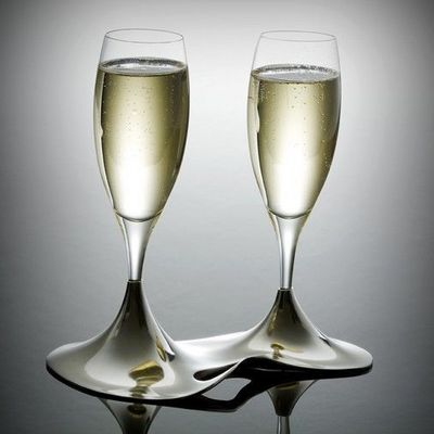 L'orfevrerie d'Anjou - Flauta de champán-L'orfevrerie d'Anjou-Coffret Ö 2 flûtes Cristal et support