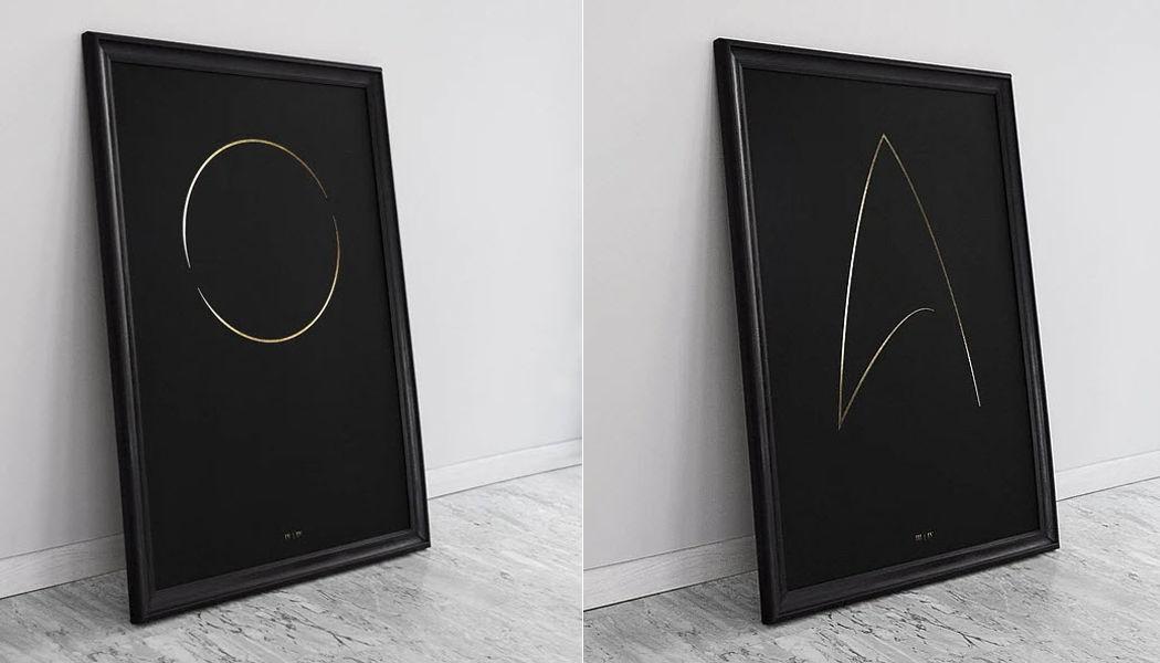 THE THIN GOLD LINE Impressione di arte Opere d'arte su carta Arte  |