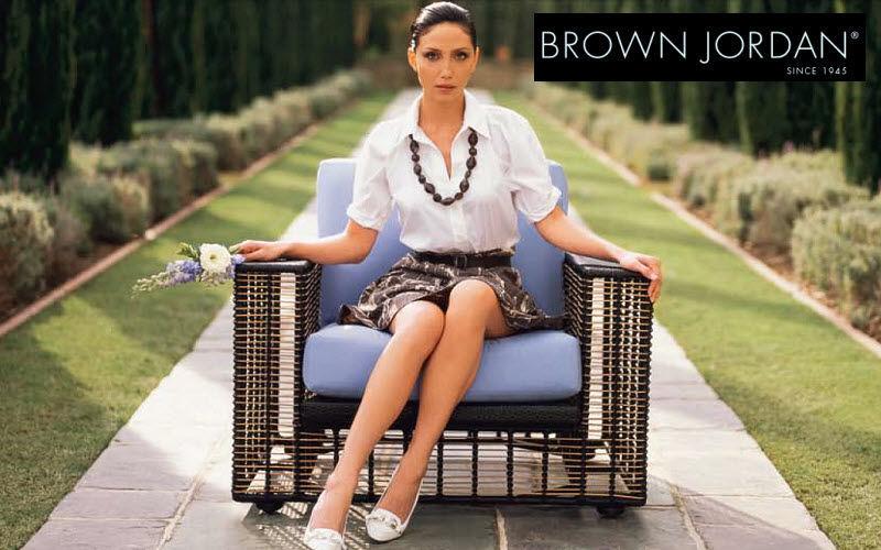 Brown Jordan Poltrona da giardino Poltrone per esterni Giardino Arredo Terrazzo | Classico