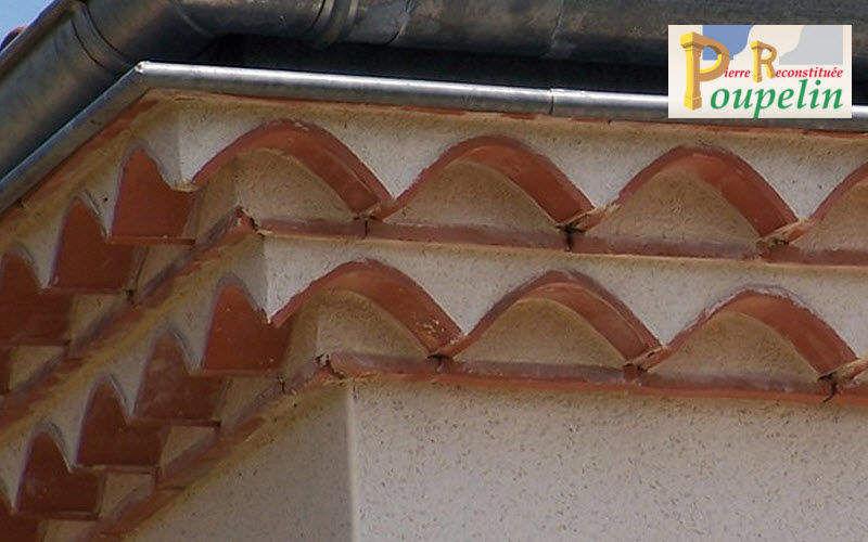 POUPELIN PIERRE RECONSTITUEE Fregio génoise Facciata e tetto Giardino Tettoie Cancelli...  |
