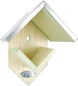 BEST FOR BIRDS - maison oiseaux en bois et aluminium 15x13x19cm - Mangiatoia Per Uccelli