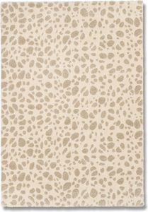 WHITE LABEL - davinci tapis marbré beige 160x230 cm - Tappeto Moderno