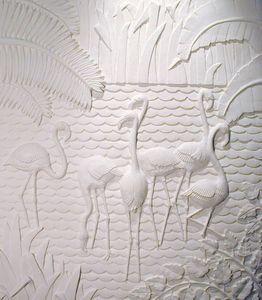 Frédérique et Rob Whittle - flamant - Pannello Decorativo