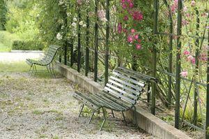 Larbaletier Panchina da giardino ad angolo