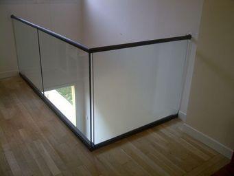 TRESCALINI - minimal: garde-corps verre (et acier) - Parapetto