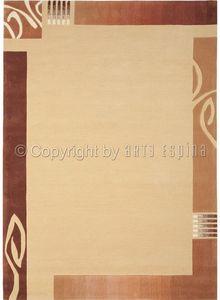Arte Espina - tapis de petit tapis easy going 3 beige 70x140 en  - Tappeto Moderno