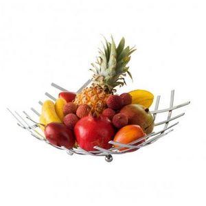 Delta - corbeille àfruits quadrillée en métal - Cestino Da Frutta