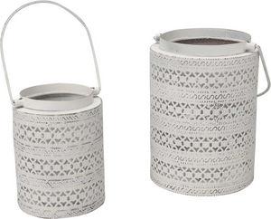 Amadeus - lanternes ajourées blanches (lot de 2) - Bicchiere Portacandela